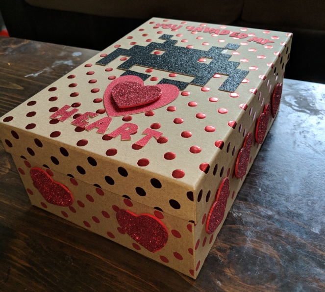 """You Invaded My Heart"" Valentine's day box"